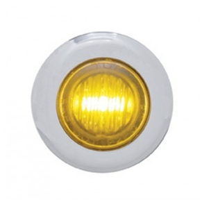 3 LED MIni Clearance/Marker Light - Stainless Steel Bezel