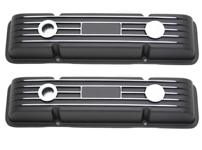 Black No Name SBC Valve Covers