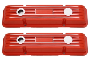 Orange No Name SBC Valve Covers