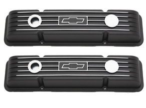 Black Bowtie SBC Valve Covers