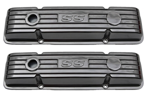 Polished 'SS' Logo SBC Valve Covers
